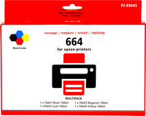 Pixeljet T66 4-Color Pack for Epson EcoTank