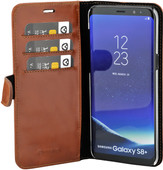 Valenta Classic Luxury Samsung Galaxy S8 Plus Book Case Brown
