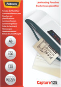 Fellowes Laminator covers Capture 125 mic A6 (100 Pieces)