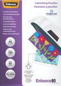 Fellowes Laminating Sheets Enhance 80mic A4 (100 units)