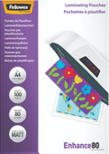 Fellowes Laminator covers Enhance Mat 80 mic A4 (100 Pieces)
