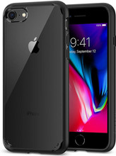 Spigen Ultra Hybrid iPhone 7/8 Back Cover Zwart