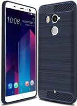 Just in Case Rugged TPU HTC U11 Plus Back Cover Blauw