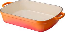 Le Creuset Gietijzeren Braadslede 33 cm Oranje-rood