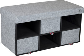 Bo-Camp Urban Outdoor Ottoman Barnet Grijs