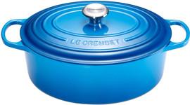 Le Creuset Ovale Braadpan 31 cm Marseilleblauw