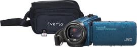 JVC GZ-R495AEU Blauw + geheugenkaart + tas