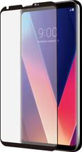 Azuri LG V30 Screenprotector Curved Gehard Glas Zwart