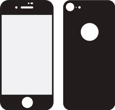 Mobilize iPhone 8 Full body Screenprotector Glas Zwart