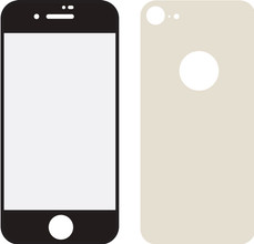 Mobilize iPhone 8 Full body Screenprotector Glas Goud