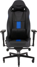 Corsair T2 Road Warrior Gaming Chair Zwart/Blauw
