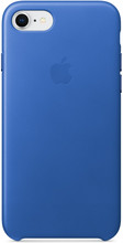 Apple iPhone 7/8 Leather Back Cover Electric Blue