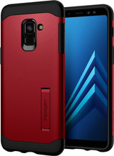 Spigen Neo Hybrid Galaxy A8 (2018) Back Cover Rood