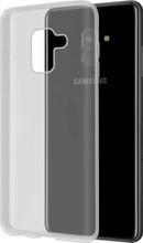 Azuri Glossy TPU Galaxy A8 (2018) Back Cover Transparant