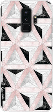 Casetastic Softcover S9 Plus Marble Triangle Blocks Roze