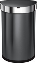Simplehuman Semi-round Sensor LinerPocket 45 Liter Antraciet