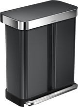 Simplehuman Rectangular Liner Pocket 24 + 34 Liter Antraciet