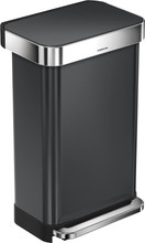 Simplehuman Rectangular Liner Pocket Rvs 45 Liter Antraciet