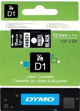 DYMO D1 Naamlabels Wit-Zwart (12 mm x 7 m)