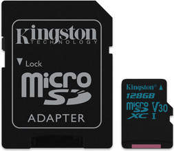 Kingston microSDXC Canvas Go! 128GB 90 MB/s + SD Adapter