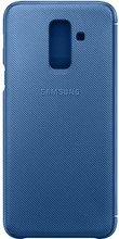 Samsung Galaxy A6 Plus (2018) Wallet Cover Book Case Blauw