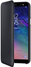 Samsung Galaxy A6 (2018) Wallet Cover Book Case Zwart