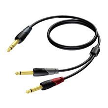 Procab CLA721/1.5 stereo jack - 2x mono jack 3m