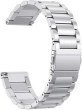 Just in Case Fitbit Versa RVS Horlogeband Zilver