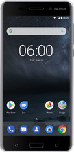 Azuri Metallic Soft Touch Nokia 6/6 Arte Back Cover Zwart