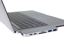Hyper USB-C Adapter Met Thunderbolt 3 Zilver