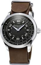 Frederique Constant Horological Chronograph Zwart/Bruin