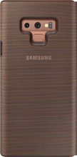 Samsung Note 9 LED View Cover Book Case Bruin