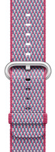 Apple Watch 38mm Nylon Woven Check Horlogeband Paars