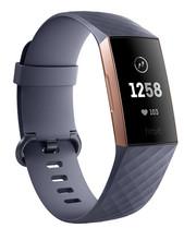 Fitbit Charge 3 Blauwgrijs / Rosegoud