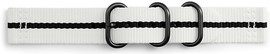 Samsung Gear Sport Premium Nylon Horlogeband Wit