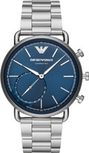 Emporio Armani Connected Aviator Blauw/Zilver