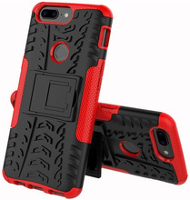 Just in Case Rugged Hybrid OnePlus 5T Back Cover Rood