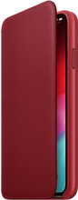 Apple iPhone XS Max Leather Folio Book Rood