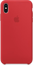 Apple iPhone XS Max Silicone Back Cover RED