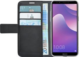 Azuri Wallet Magneet Huawei Y7 (2018) Book Case Zwart