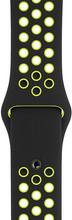 Apple Watch 44mm Siliconen Horlogeband Nike Sport Zwart/Volt