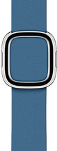Apple Watch 40mm Modern Leren Horlogeband Cape Cod Blauw - L