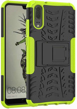 Just in Case Rugged Hybrid Huawei P20 Back Cover Groen