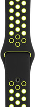 Apple Watch 40mm Siliconen Horlogeband Nike Sport Zwart/Volt