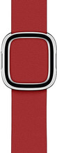 Apple Watch 40mm Modern Leren Horlogeband RED - Large