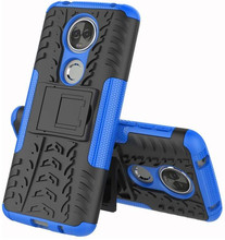 Just in Case Rugged Hybrid Moto E5 Plus Back Cover Blauw