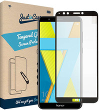 Just in Case Full Cover Gehard Honor 7A Screenprotector Glas