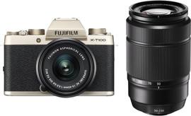 Fujifilm X-T100 Goud + XC 15-45mm OIS PZ + XC 50-230mm OIS