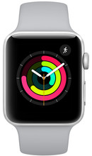 Apple Watch Series 3 38 mm Zilver Aluminium/Grijze Sportband