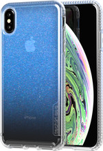 Tech21 Pure Shimmer iPhone Xs Max Back Cover Iridescent Blau